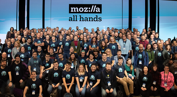 Mozilla remotees group photo in Berlin, January 2020