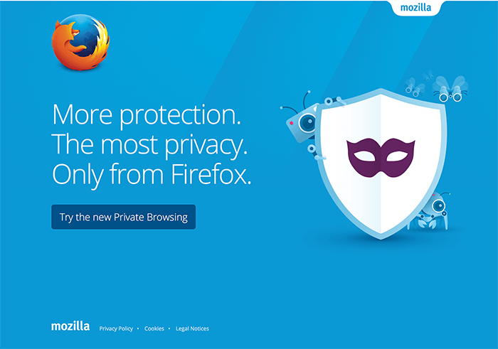 Screenshot of Firefox /whatsnew page
